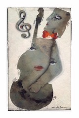 From: The Bohemians (jimlaskowicz) Tags: jimlaskowicz musician artistic dream textures instrument bass music eyes modern painterly impressionistic surreal art bohemians