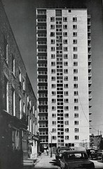Munster Square redevelopment, London, 1960 (mikeyashworth) Tags: mikeashworthcollection munstersquare stanhopest 1960 redevelopment towerblock armstrongmacmanusarchitects stmaryleboneboroughcouncil oldlondon postwarlondon streetscene