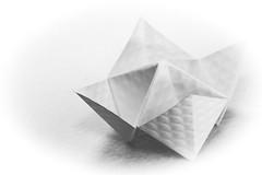 Macro Monday (beckcorbin) Tags: macromondays origami fortuneteller whiteonwhite macro