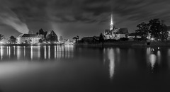 lights of wroclaw (Sergey S Ponomarev) Tags: canon eos 70d travel tourism 2016 europe landscape paysage paesaggio pajsage monochrome bw blackandwhite poland polska polonia wroclaw river smoke church tower clouds night notte longexposure le sergeysponomarev zenit zenitar fisheye сергейпономарев туризм путешествия европа пейзаж город вроцлав польша река ночь огни церковь архитектура architecture одер oder монохром