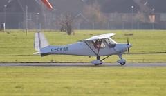 Ikarus C42 FB80 G-CKGS Lee on Solent Airfield 2018 (SupaSmokey) Tags: ikarus c42 fb80 gckgs lee solent airfield 2018