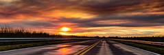Panorámica de Atardecer en la Ruta (Martin Antolin PH) Tags: paisaje landscape sunset sunrise atardecer contraste highcontrast altocontraste contraluz color sky pink orange