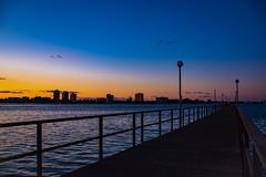 Belle Isle Fishing Pier Sunset (Will-Jensen-2020) Tags: park belleisle island night light detroitriver river dusk nikon photography d7200 dslr skyline fishing pier sunset detroitphotographer detroit michigan usa