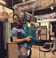 Sergio Michel with Floyd Rose pick assist prototype! (sergiomichelmusic) Tags: sergiomichel guitar music guitarist viral trending hollywood sergiomichelmusic sergiomichelcelebrity sergiomichelguitarist sergiomichelguitar floyd rose guitarshredder namm nammshow 2019 pick assist
