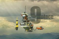 The Nine Place Lego - atana studio (Anthony SÉJOURNÉ) Tags: the nine place lego flying tug boat tribute ian mcque moebius jean giraud brick afol moc creator atana studio anthony séjourné