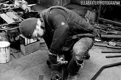 Pure concentration (ellabaxter15) Tags: welder metalwork blackandwhitephotography photography northernireland university assignment canoneos1200d workshop amateurphotographer 2018