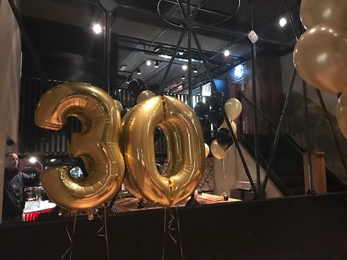 Folieballon Cijfer 30 Cafe in the City Rotterdam
