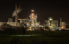 MetropOilis (Rob Pitt) Tags: eastham oil refinery night canon 70200 f4 l sony a7rii wirral silhouette cheshire