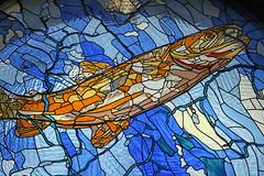 Stained Glass Window (crafty1tutu (Ann)) Tags: travel holiday 2018 canadaandalaska canada chateaulakelouise stainedglasswindow stainedglass fish window crafty1tutu canon5dmkiii canon24105lserieslens anncameron