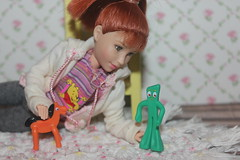 I'm back...sort of. (tamsykens1) Tags: tammy world fern when i read dream doll red hair gumby pokey worlds smallest miniature