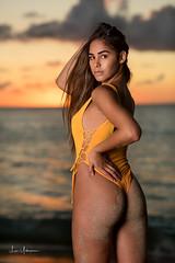 Natalie @ Makua Beach 10 (JUNEAU BISCUITS) Tags: swimwear swimsuit onepiece sunset hawaii hawaiiphotographer model femalemodel beauty glamour nikon portrait portraiture