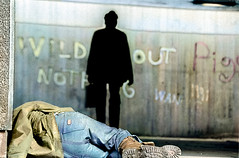 "Homeless Man Asleep In Street_col (hoffman) Tags: davidhoffman davidhoffmanphotolibrary socialissues reportage stockphotos""stock photostock photography"" stockphotographs""documentarywwwhoffmanphotoscom copyright"