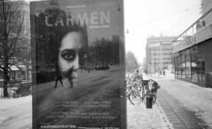 """Carmen"" opera in my home town, a wonderful show .. (Foide) Tags: winter cold hometown street"
