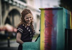 Concert (Pawel Wietecha) Tags: concert piano outdoor city warsaw poland girl woman lady model studio light new art emotions portrait eyes look face hair pretty beauty glamour people makeup style dark pawel wietecha femme fille dame beauté belleza dama niña bellezza signora ragazza belle blue red yellow