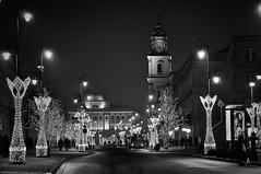 Sunday evening (4eye MONO) Tags: balckandwhite bw monochrome krakowskieprzedmieście warsaw poland 4eye nikon nikkor amateur night street city 18105mmf3556gvr