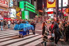Shop on wheels (mniesemann) Tags: ifttt 500px new yorker night market street life zebra crossing manhattan york times square commercial color colors citylife urban usa america ny2018 newyork orr