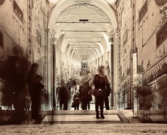 Musei Vaticani (Leve Lumen) Tags: museum vatican italy statues blur motion stairs steps roman sightseeing tourism tourist viewer art culture history archeology exhibition