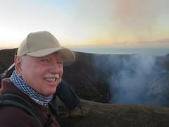 David Stanley at Yasur Volcano