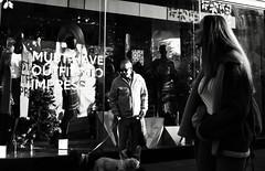 Must Have Outfits to Impress (Bury Gardener) Tags: burystedmunds bw blackandwhite britain monochrome mono 2018 nikond7200 nikon england eastanglia suffolk streetphotography street streetcandids snaps strangers candid candids people peoplewatching folks buttermarket