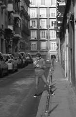 Alert? (RICHARD OSTROM) Tags: monochrome street texture dude dslr debris war epic earth europe spain madrid easy eats axe rights hero urban it macho heat 2018 city drunk