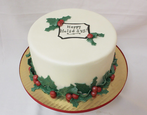 Holly-days Designer Cake