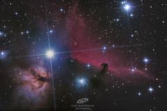 Alnitak y alrededores, nebulosas de la flama, cabeza de caballo, etc... Sábado 8 de diciembre sed de Àger, Lleida, 2:05h de integración total (21x300s + 2x600s) Skywatcher newton 150/750 pds Canon eos 600D modificada y refrigerada Corrector de coma Baader (gerardtartalo) Tags: cosmos universe universo estrellas estrella star astrofotografia astrophotography nebula nebulosa sky nightsky skywatcher astrometrydotnet:id=nova3110675 astrometrydotnet:status=solved