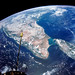 India and Ceylon as seen from the orbiting Gemini-11 spacecraft. Original from NASA. Digitally enhanced by rawpixel.