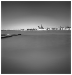 Venetian Waterfront (Andy J Newman) Tags: longexposure vulturelabs silverefex monochrome cityscape water blackandwhite italy venice nikon d810 lagoon sea provinceofvenice it