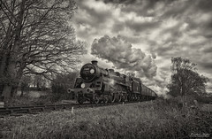 New Year: Last Run (Nimbus20) Tags: bluebell railway standard 5 camelot sussex blackandwhite steam dark clouds
