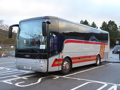 SO13 EMJ (previously NKH 819) is a Van Hool TX11 of H&S, Blantyre, seen in Oban on 28 December 2018. (C15 669) Tags: so13 emj nkh 819 hs blantyre