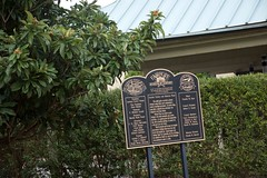 Fairhope's History Museum Marker (King Kong 911) Tags: cokemachine fireengine flowers2 history murals2 museum stamps statue train1