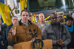 Governor Cuomo Holds Storm Briefing in Cheektowaga (governorandrewcuomo) Tags: winter storm snow wind publicsafety cheektowaga ny usa