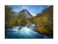 The blue river (andreassofus) Tags: norway landscape grandlandscape river water stream streamingwater trees sky clods nature summer summertime mountain mountainscape scandinavia outdoor travel travelphotography longexposure lee leefilter blue