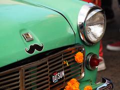 Bigotito (supernova.gdl.mx) Tags: desfile dia muertos guadalajara mexico bigote datsun auto automovil coche carro nissan