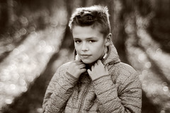 Wojtek (Piotr Gajek) Tags: portrait outdoor olympus bokeh bw boy background bubbles bokelicious black white dof depth of field 55mm 12 zuiko om fujifilm xt2 monochrome