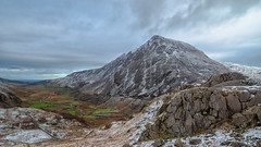 Mighty Pen yr Ole Wen... (Lee Harris Photography) Tags: mountain mountains wales snowdonia landscape wideangle valley clouds rugged outdoor snow winter sky colourful scenic light contrast lumixg9 mirrorless