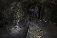 s_IMG_4601 kopiera (mephoto-se) Tags: mine mining mininghistory history abandoned forgotten deep downunder underground iron oldmine old decay decaying under tunnel miningindustry rail rails darkness dark lightpainting nightphoto