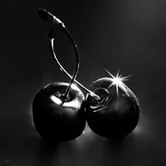 Cherries (kunstschieter) Tags: centersquarebw macromondays