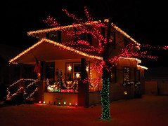 IMG_1588 Christmas glow (jgagnon63@yahoo.com) Tags: christmas christmasdecorations christmaslights december escanaba nightphotography deltacountymi canons110