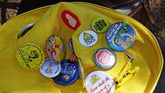 Nanna hat (Tony Markham) Tags: officeofenvironmentandheritage oeh friendsofthirlmerelakes fotl undermined iknag illawarraknittingnannasagainstgreed thirlmerelakesnationalpark hat badge badges