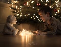 Christmas Lights (agirygula) Tags: christmas christmastime advent christmaslights christmastree teddy boywithteddy childhood childhoodmemories smile christmaseve santa santaclause led ledlights