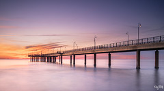 Sunset 2019 (nicolamariamietta) Tags: marina di pietrasanta versiglia toscana tuscany italy pier sunset sea cloudy nobody longexposure sonya7 ilce7 nisifilter nisi nd1000