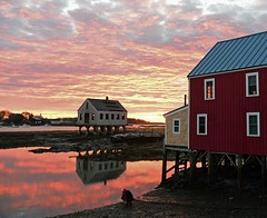 Sunrise reflections (Robert Dennis Photography) Tags: reflections sunrise maine kennebunkport capeporpoise