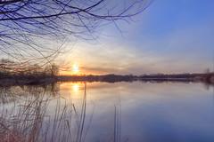 IMG_0554_5_6_Südlicher See_M50 (HDRforEver) Tags: hdr photomatix karstenhöltkemeier canon m50 new interesting sunset sonnenuntergang südlichersee portawestfalica water lake landscape landschaft sun see reflexions