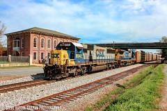 CSX Q212-01 (Steve Hardin) Tags: standardcab emd sd50 c408 yn2 csx wa westernatlantic railroad railway railfan autorack train cartersville georgia engine locomotive