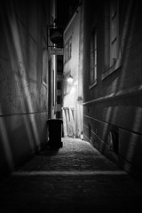The Alley Way (lja_photo) Tags: luxembourgcity luxembourg ourluxembourg madeinluxembourg city cityscape night nightscape nightphotography street streetphotography lights illuminated dark shadows contrast dynamic light europe exploration evening longexposure reflections travel urban urbex outdoors old outdoor photography architecture architectural art abstract artificial dramatic fineart fujixt20 black white bw bnw blackandwhitephoto buildings building backlight noperson monochrome monotone monoart moody long exposure bar