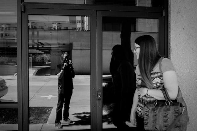 ME and a passerby  #LifeinOshkosh