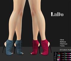 LD Design _ Alix Boots (LaDo Design) Tags: secondlife second life boots shoes shoe color moda design mesh bento maitreya belleza slink tonic avatar 3d model