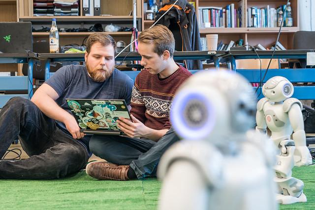 Humboldt Universität zu Berlin Informatik, Vigit Can Akcay, Benjamin Schlotter, Steffen Kaden, Heinrich Mellmann