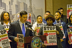 Miguel Bautista for the 28th Ward City of Chicago Aldermanic Candidates Press Conference to Support Civilian Police Accountability Council Chicago Illinois 1-9-19 5574 (www.cemillerphotography.com) Tags: cops brutality shootings killings rekiaboyd laquanmcdonald oversight reform corruption excessiveforce expensivelawsuits policeacademy